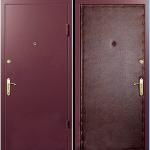Квартирная дверь «Эконом полупокрас»