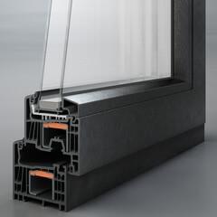 Черные стеклопакет