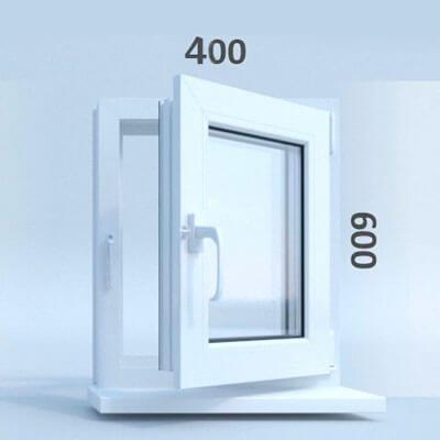 Окно ПВХ 40х40