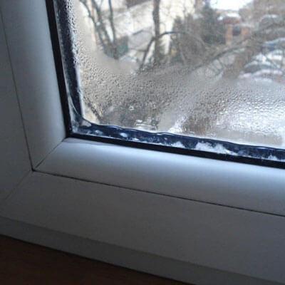 Пластиковые окна замерзают изнутри помещения